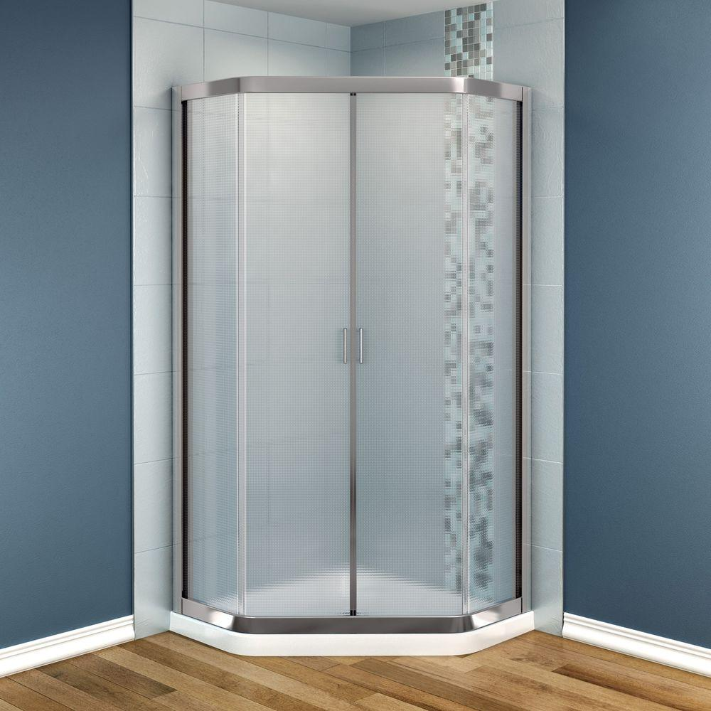MAAX Intuition 36 in. x 36 in. x 73 in. Shower Stall in White