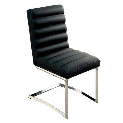 Livada I Chrome and Black Contemporary Style Side Chair