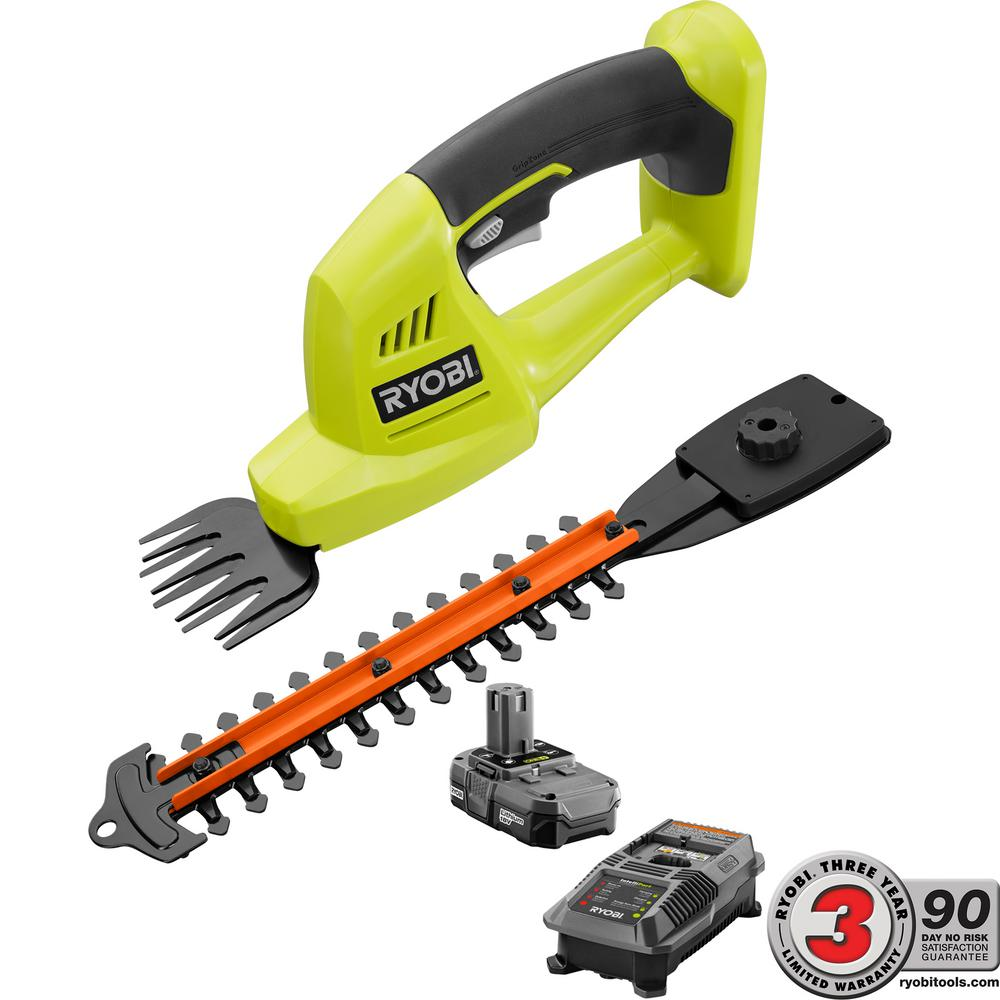 ONE+ 18-Volt Lithium-Ion Cordless Grass Shear and Shrubber Trimmer - 1.3