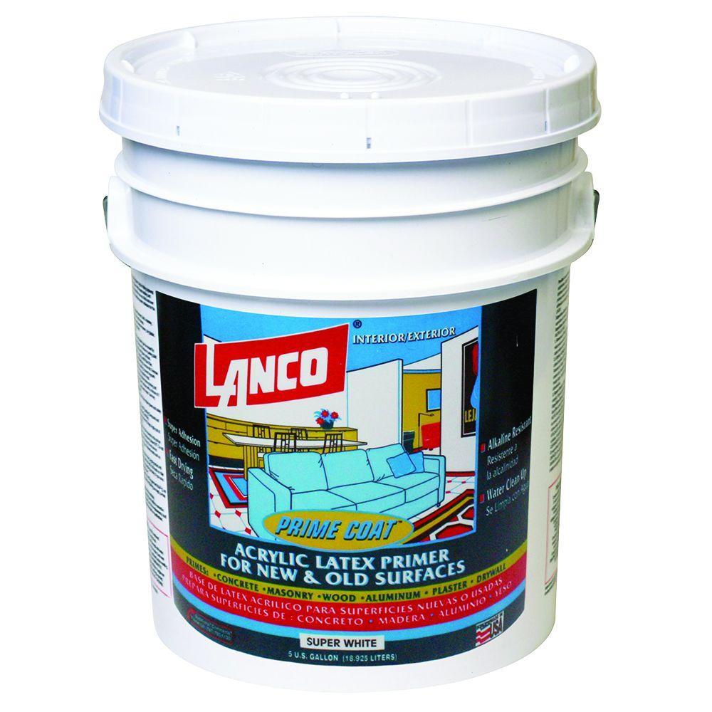 Lanco 1 Qt Acrylic Latex Black Interior Exterior Durex Primer De717 5 The Home Depot
