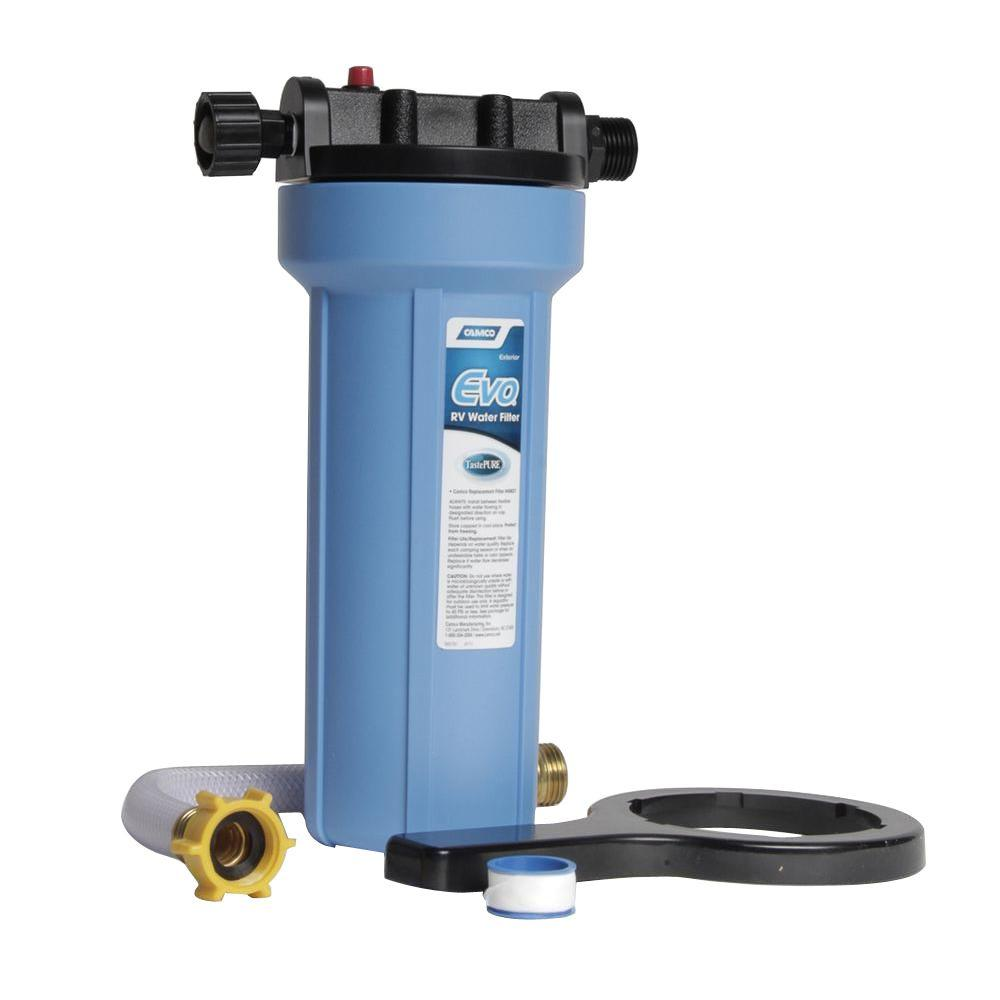 Camco 52664 EVO Water Filter Canister and Cap Replacement Part for EVO 40630 and 40631 10-Inch Compatible with 10-Inch Water Filter Cartridges With Pressure Relief