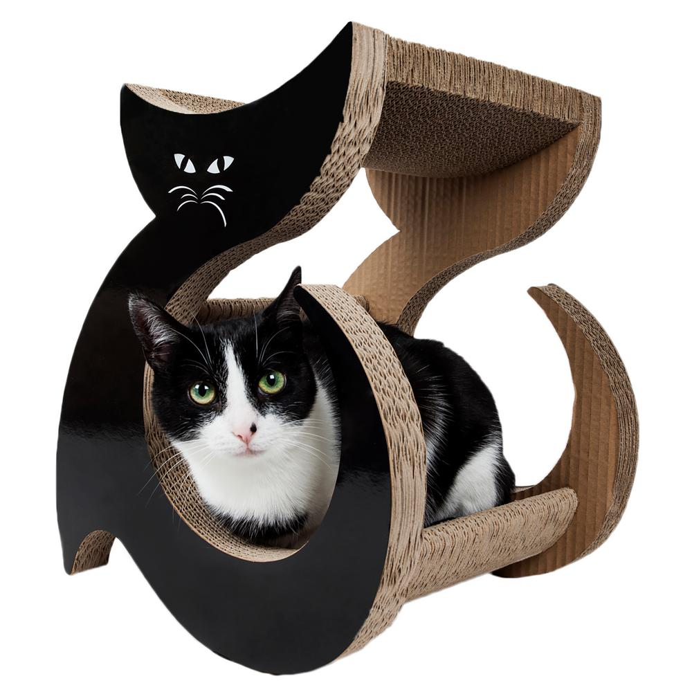 Black Purresque Ultra Premium Fashion Designer Lounger Cat Scratcher