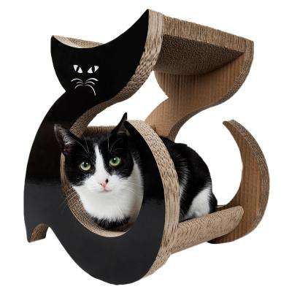 Black Purresque Ultra Premium Fashion Designer Lounger Cat Scratcher