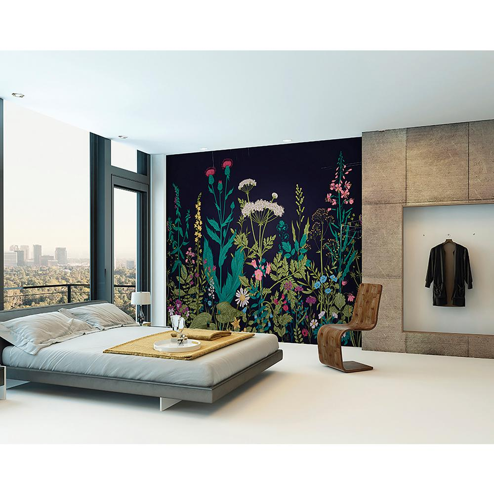 Brewster botanical fleur wall mural wals0196 the home depot for Brewster wall mural