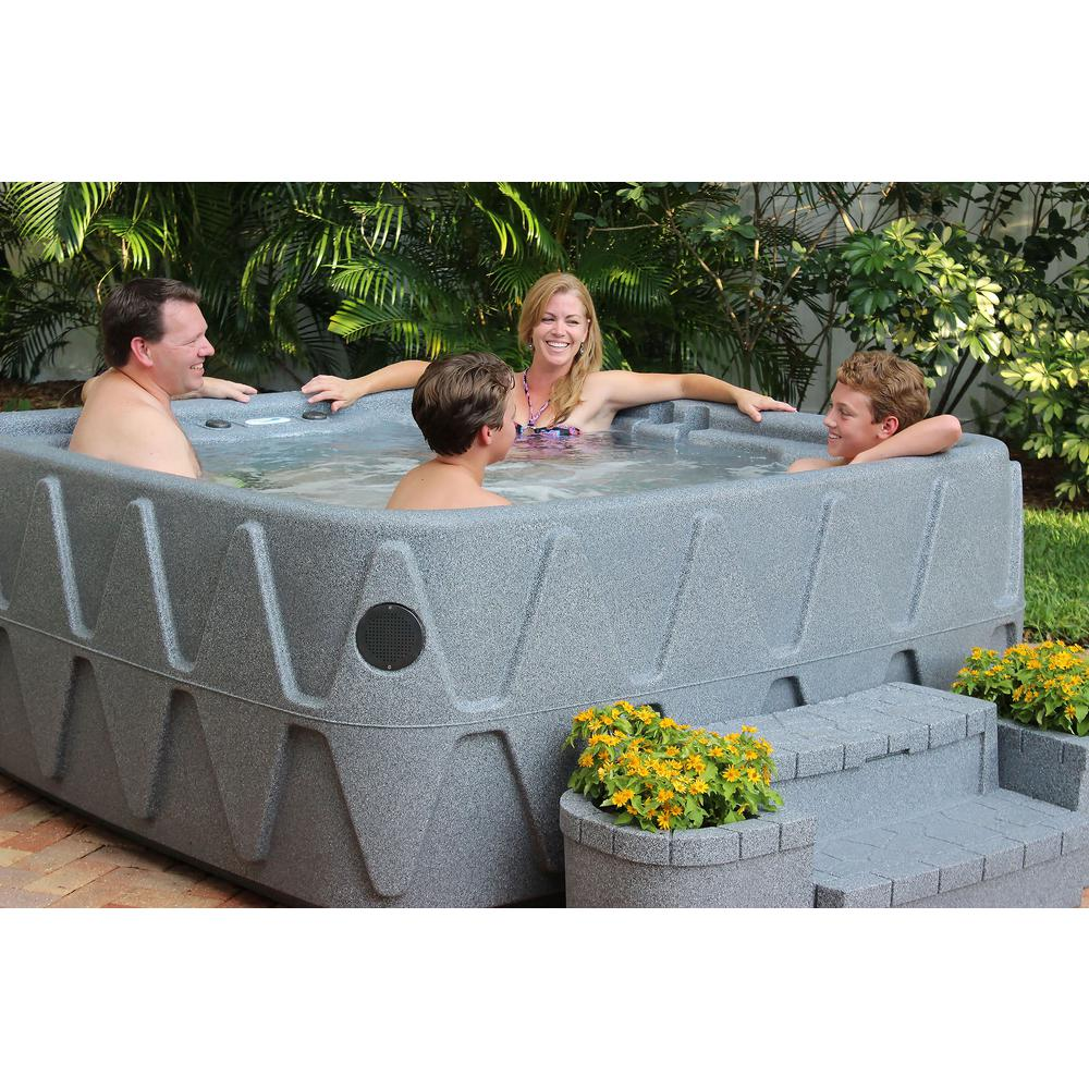AR-500 5-Person Spa with 19 Jets in Stainless Steel and Easy