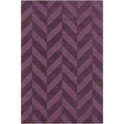Central Park Carrie Eggplant 6 ft. x 9 ft. Indoor Area Rug