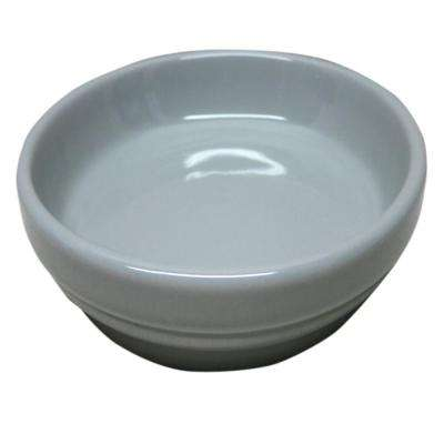 4 in. Gray Ceramic Saucer