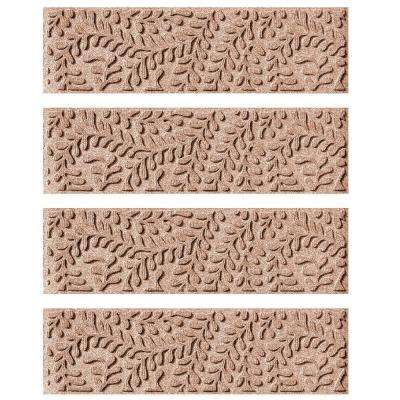 Medium Brown 8.5 in. x 30 in. Boxwood Stair Tread Cover (Set of 4)