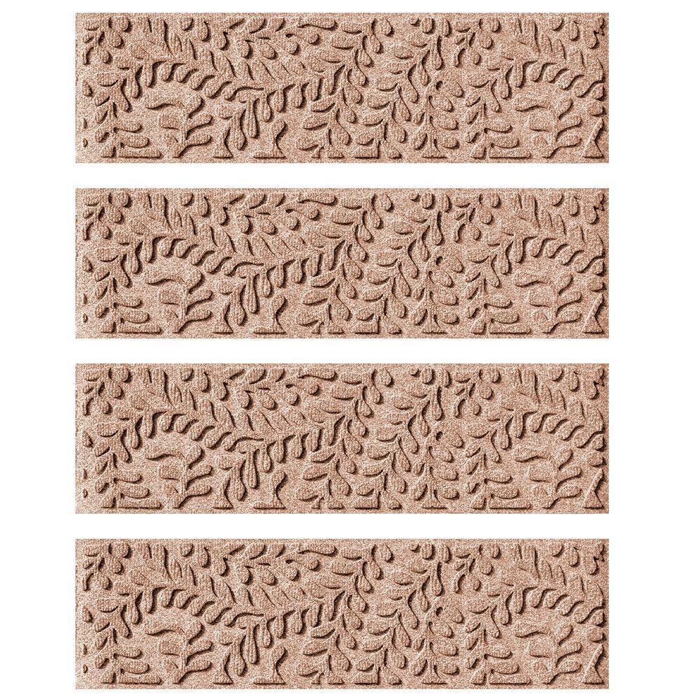 Medium Brown 8.5 in. x 30 in. Boxwood Stair Tread (Set of 4)