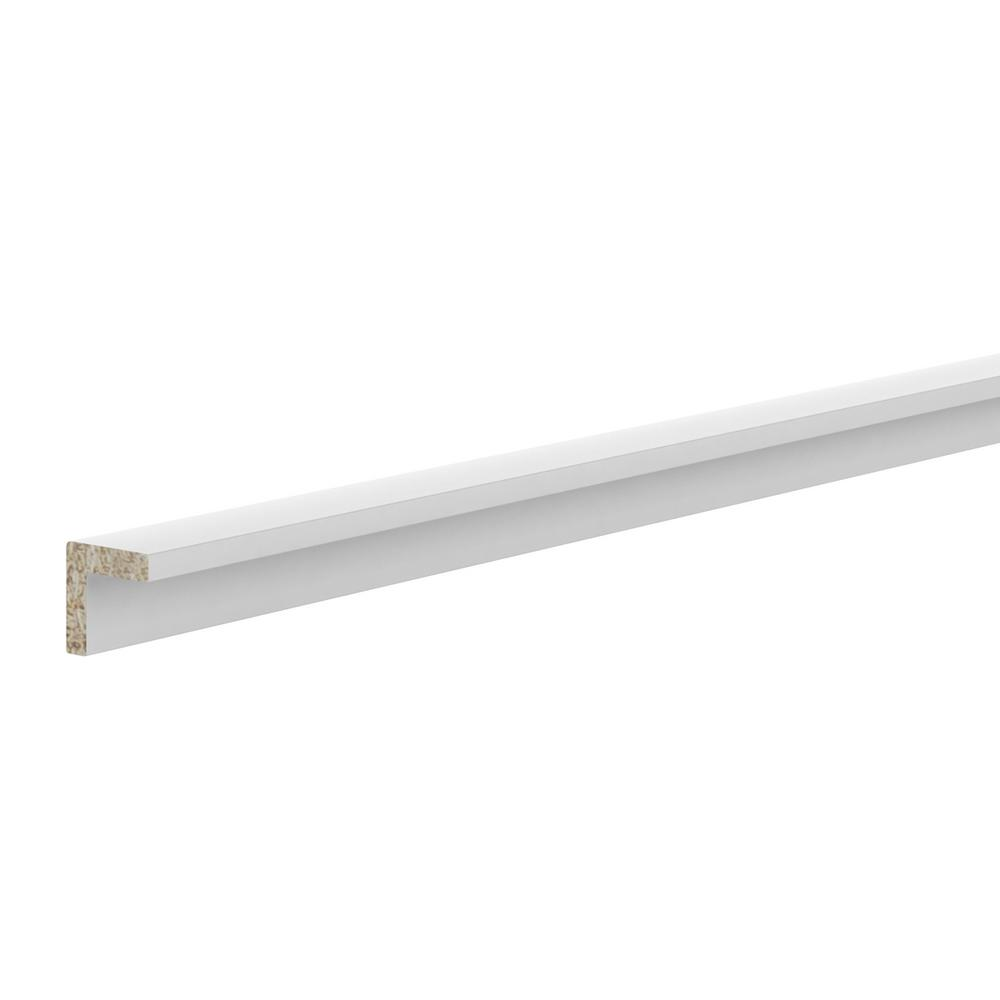 Hampton Bay 1 in. x 91.5 in. Outside Corner Molding in Warm White