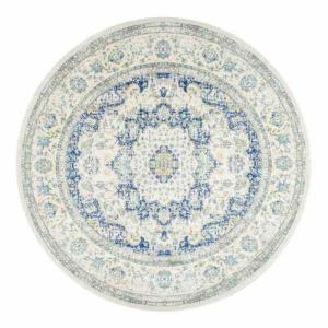 Verona Blue 5 ft. x 5 ft. Round Area Rug by