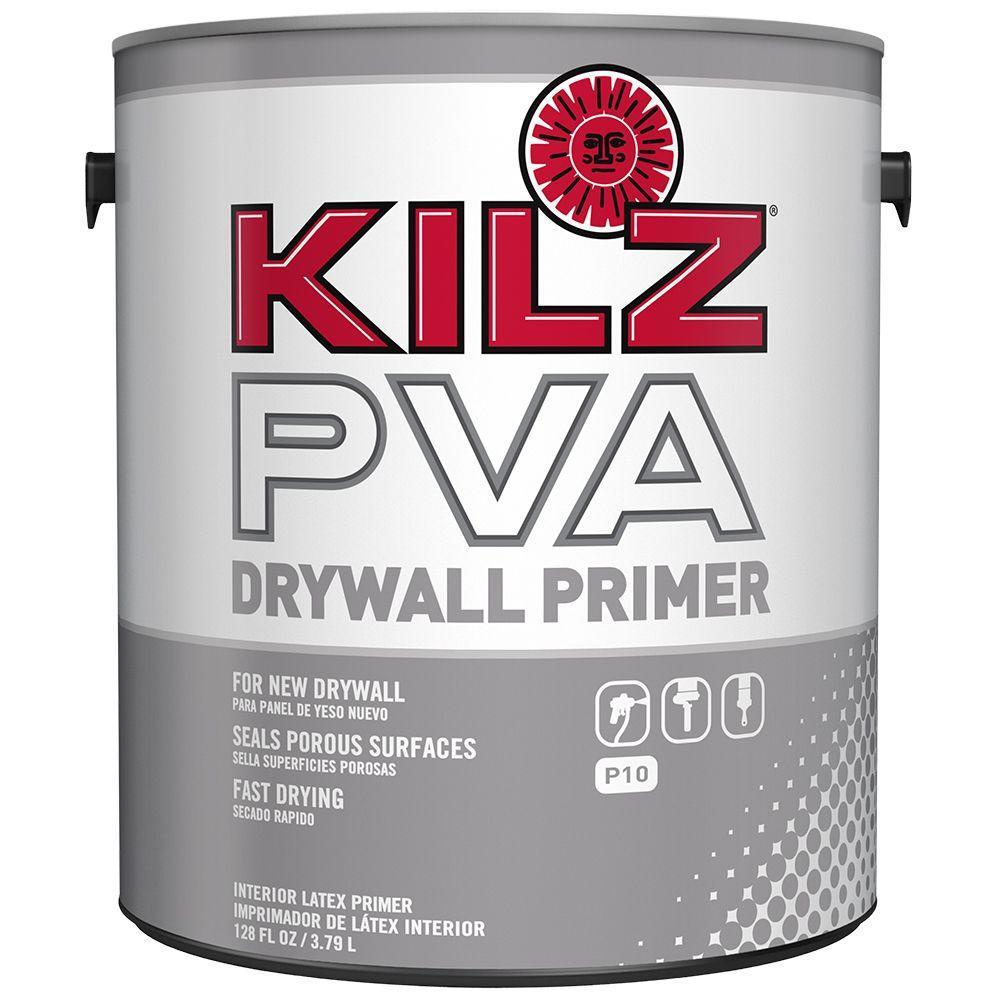 KILZ 1 gal White Flat Interior PVA PrimerPX01001 The Home Depot
