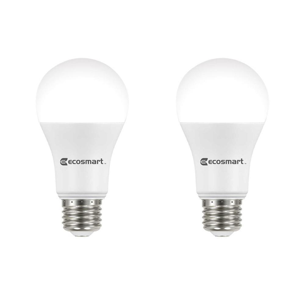 75-Watt Equivalent A19 Dimmable Energy Star LED Light Bulb Soft White (2-Pack)