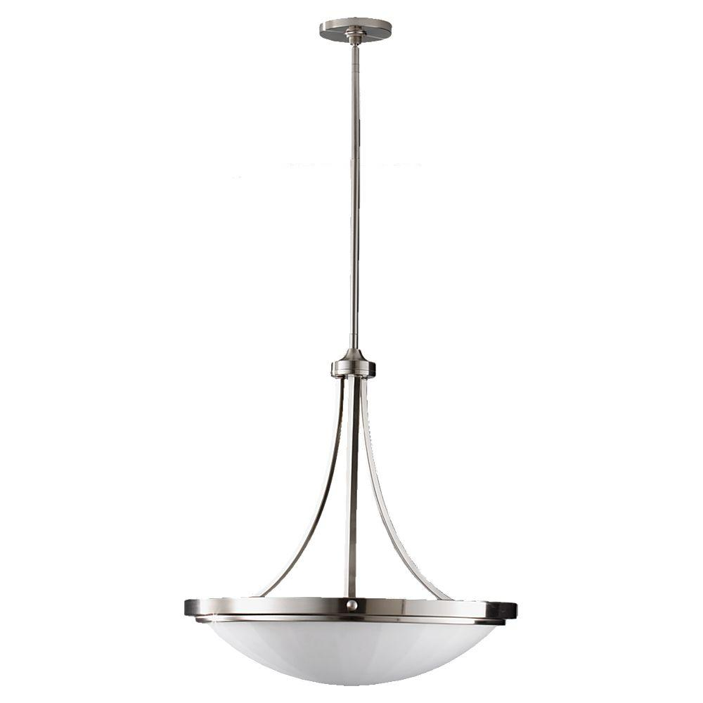 Feiss Perry 3 Light Brushed Steel Uplight Chandelier Shade