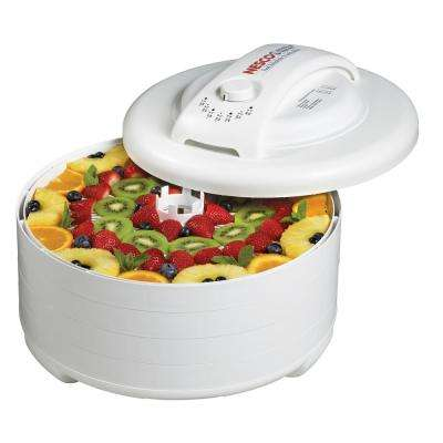 500-Watt Food Dehydrator with Adjustable Thermostat in White
