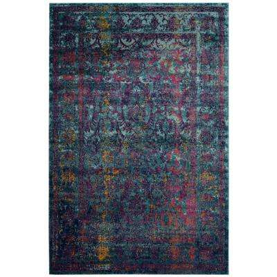 Granada Blue/Multi 5 ft. x 8 ft. Area Rug