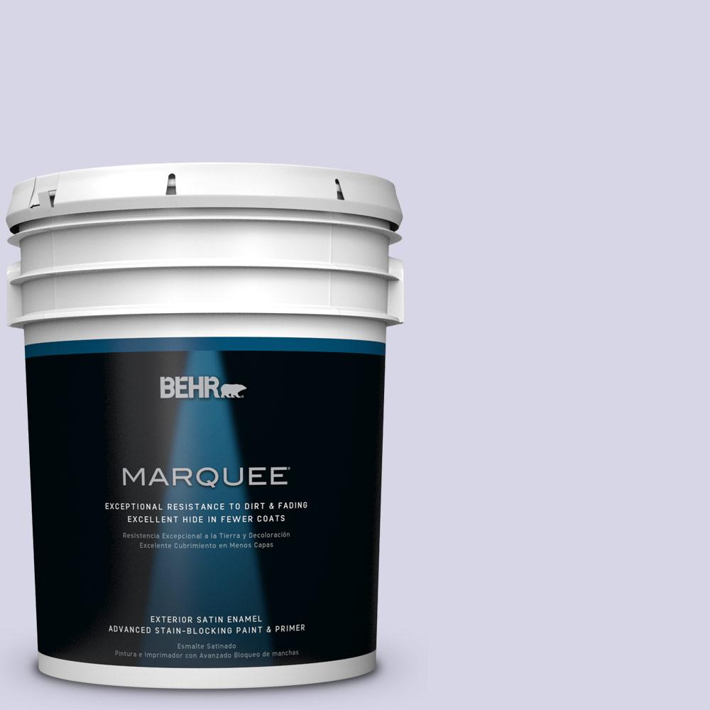 BEHR MARQUEE 5-gal. #PPU16-8 Hint Of Violet Satin Enamel Exterior Paint