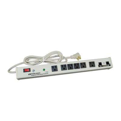 Perma Power 6-Outlet 15-Amp Computer Grade Surge Strip with Lighted On/Off Switch and Surge Protector, 6 ft. Cord