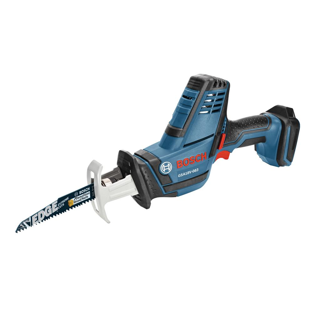 18-Volt Lithium Ion Cordless Compact Reciprocating Saw with 2 Bi-Metal Blades