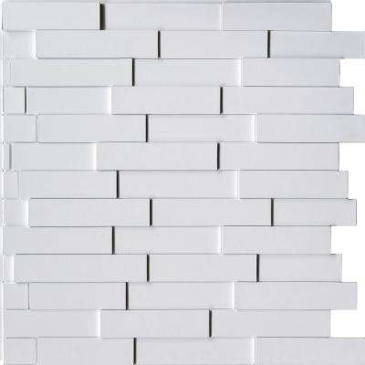 Piano Steps 24 in. x 24 in. Snow White PVC Wall Panel