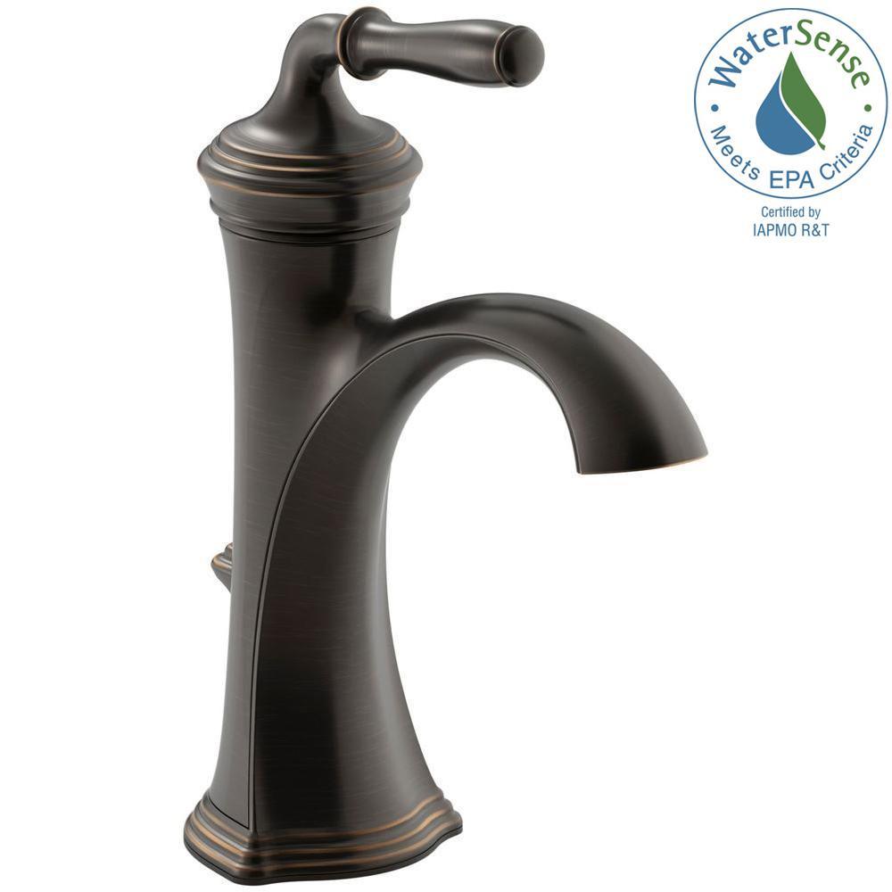 Delightful Devonshire Single Hole Single Handle Water Saving Bathroom Faucet In Oil  Rubbed Bronze