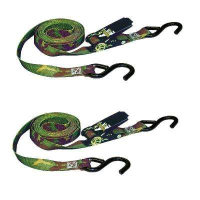 12 ft. x 1 in. x 1500 lbs. Camo Ratchet Tie-Down (2-Pack)