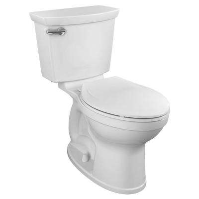 Champion Tall Height 2-Piece High-Efficiency 1.28 GPF Single Flush Elongated Toilet in White Seat Included