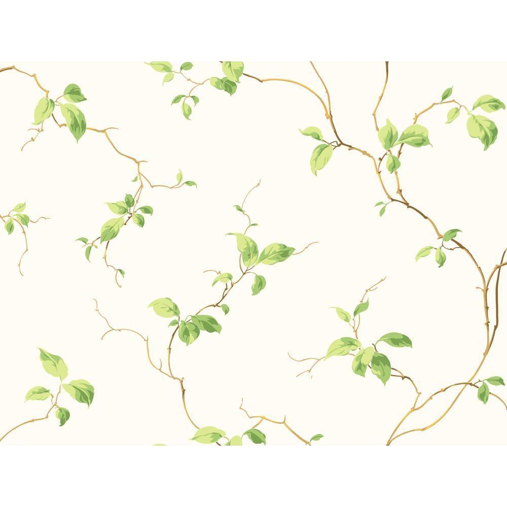 York Wallcoverings Leaves Wallpaper