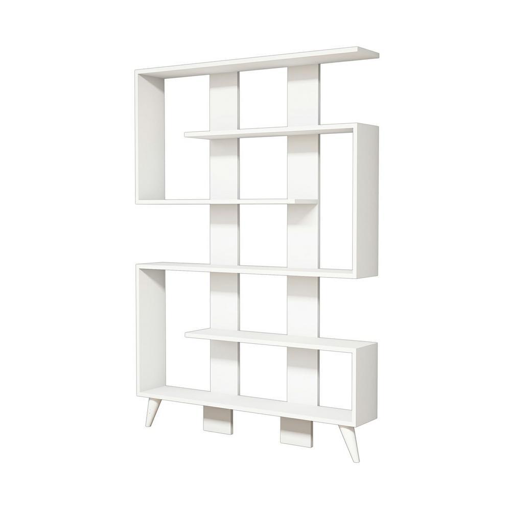 Bolvin White Modern Bookcase