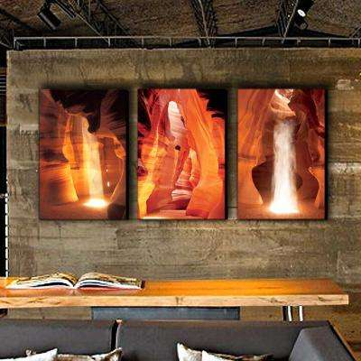 "20 in. x 42 in. ""Antelope Canyon"" Printed Wall Art"