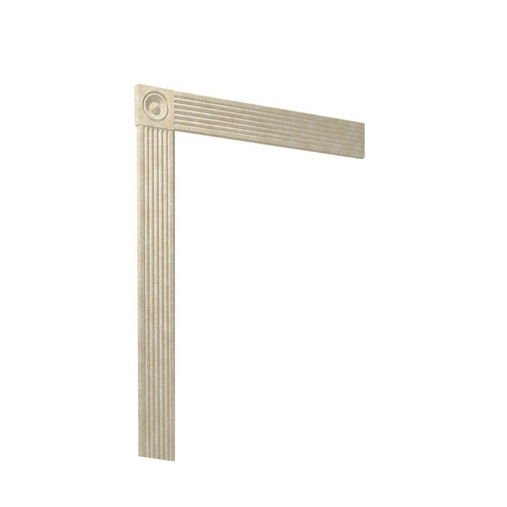 Swanstone Easy Up Adhesive Solid-Surface Decorative Shower Wall Trim Kit in Cloud Bone-DISCONTINUED