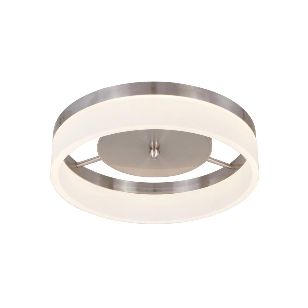 Alsy Alsy 21-Watt Brushed Nickel Integrated LED Ceiling Flush Mount