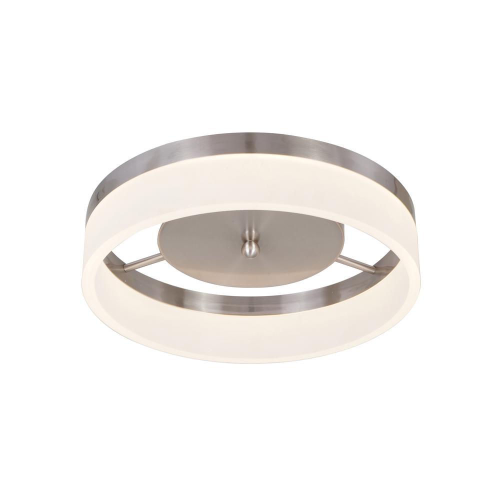 Alsy Alsy 21-Watt Brushed Nickel Integrated LED Ceiling Flush Mount