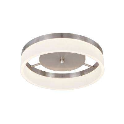 21-Watt Brushed Nickel Integrated LED Ceiling Flush Mount