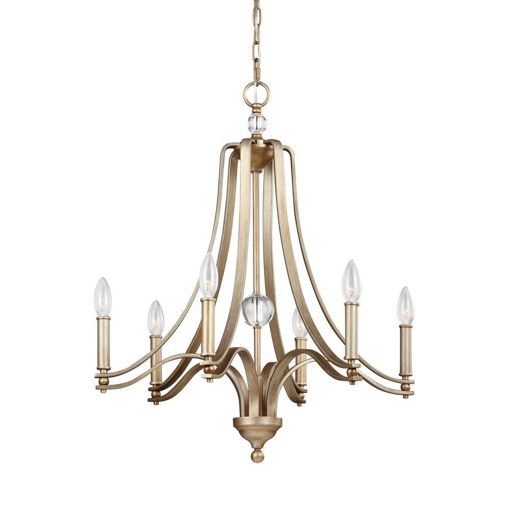 Evington 6-Light Sunset Gold Single Tier Chandelier Shade