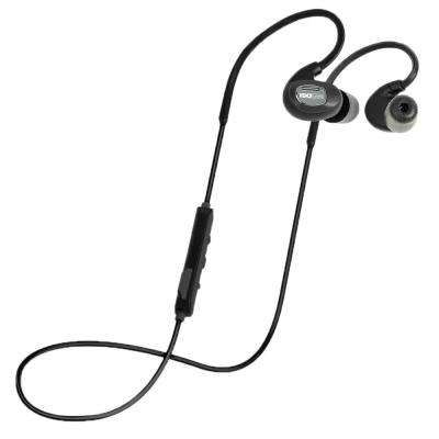 PRO Matte Black Bluetooth Earplug Headphones, Noise Cancelling Mic
