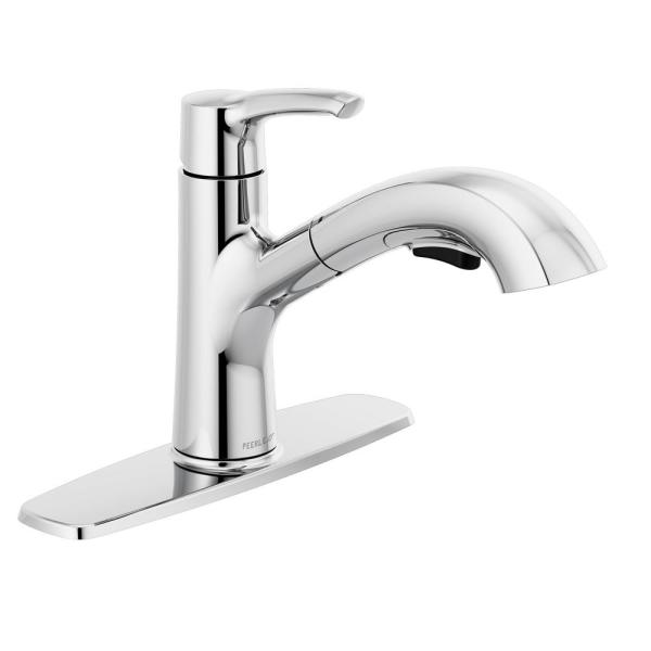 Peerless Parkwood Single Handle Pull Out Sprayer Kitchen Faucet In Chrome P6935lf The Home Depot