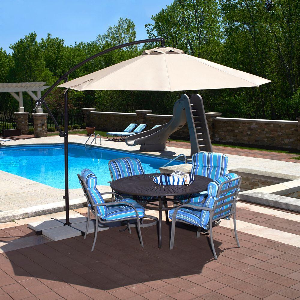 Island Umbrella Santiago 10 Ft. Octagonal Cantilever Patio