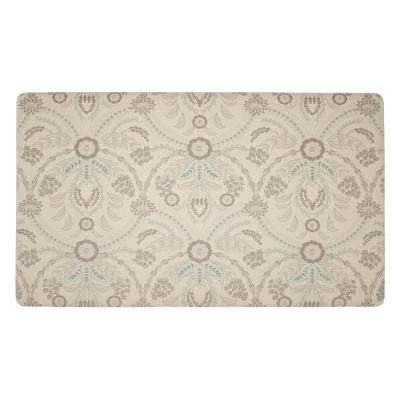 Almeida Duck Egg 20 in. x 32 in. PVC Anti-Fatigue Comfort Kitchen Mat