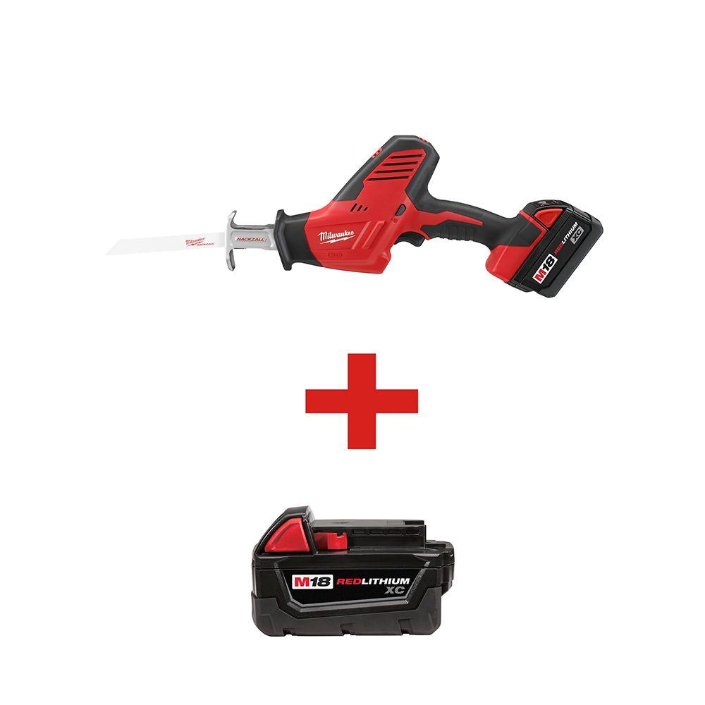 M18 18-Volt Lithium-Ion Cordless Hackzall Reciprocating Saw XC Battery Kit with