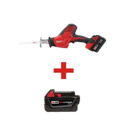 M18 18-Volt Lithium-Ion Cordless Hackzall Reciprocating Saw XC Battery Kit with 3.0Ah Battery