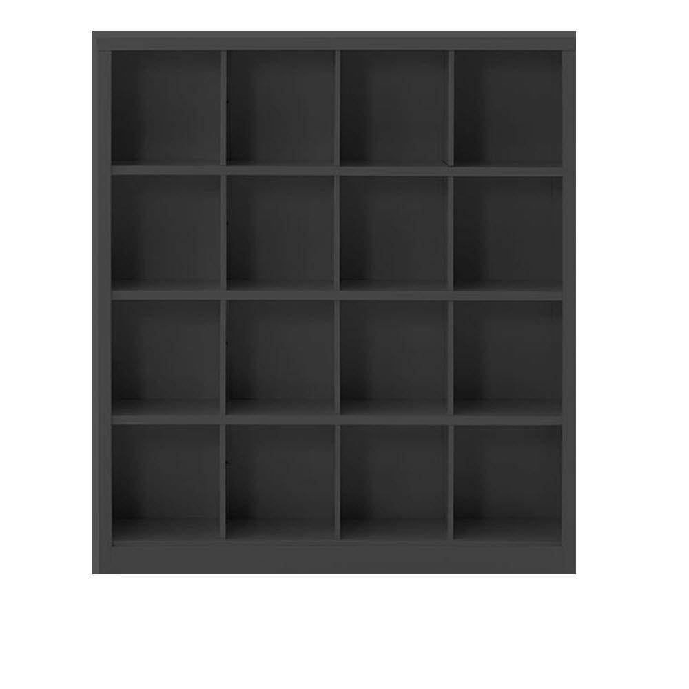 Lachlan 53.25 in. x 60 in. Black 16-Cube Storage Organizer