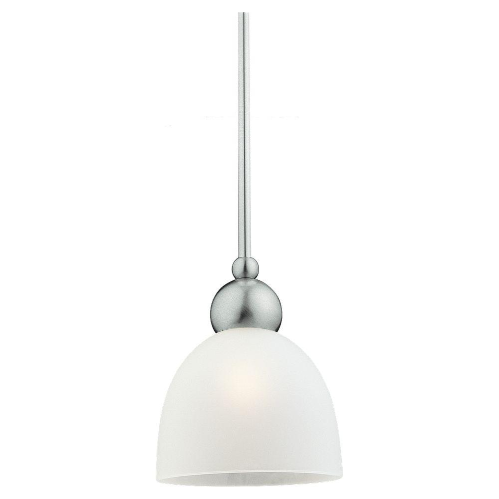 Sea Gull Lighting Metropolis 1 Light Brushed Nickel Mini Pendant