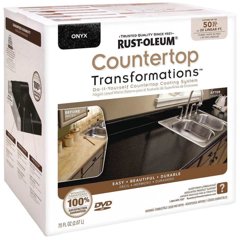 Rust-Oleum Transformations 70 oz. Onyx Large Countertop Kit
