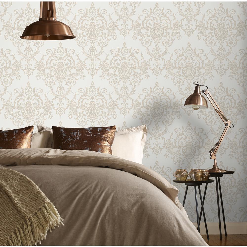 Victorian Damask Gold Wallpaper Sample