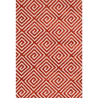 Cassidy Lifestyle Collection Rust 3 ft. 6 in. x 5 ft. 6 in. Area Rug