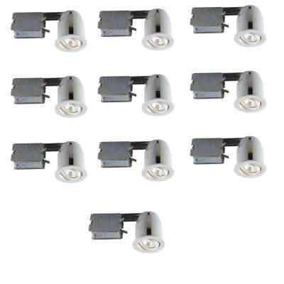303 Series 3 in. White Recessed Halogen Lighting Kit (10-Pack)