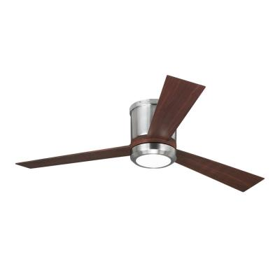 Clarity 52 in. LED Brushed Steel Ceiling Fan with Light Kit
