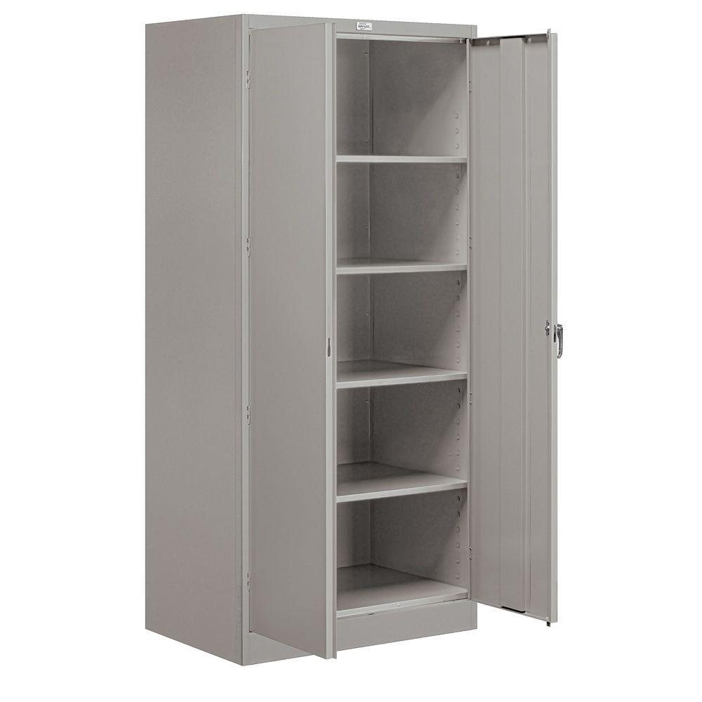 9000 Series 78 in. H x 24 in. D Standard Storage Cabinet Unassembled in Gray