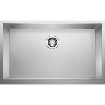 Precision Apron-Front Stainless Steel 32 in. x 19.5 in. Single Bowl Kitchen Sink in Durinox